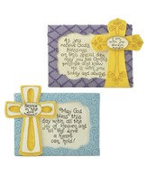 Blessings Cross Plaques, Set of 2