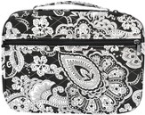 Quilted Paisley Bible Cover, Black and White, Large