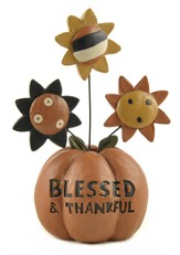 Blessed and Thankful Pumpkin Figure