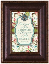 How Great Is His Goodness Framed Art
