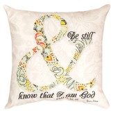 Be Still Psalm Pillow