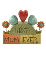 Best Mom Ever Stacked Block Figurine