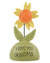 I Love You Grandma, Flower Figurine