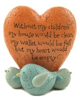Without My Children Heart Figurine
