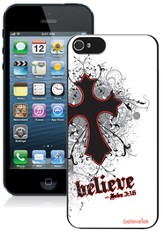 Cross iPhone 5 Case, White