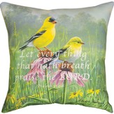 Yellow Finch Field Pillow