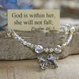God Is Within Her, She Will Not Fall, Crystal Bracelet