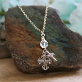 Crystals and Crosses Necklace