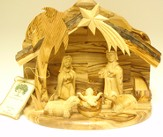 One Piece Nativity Set with Holy Family and Sheep