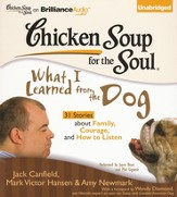 Chicken Soup for the Soul: What I Learned from the Dog: 31 Stories about Family, Courage, and How to Listen Unabridged Audiobook on CD