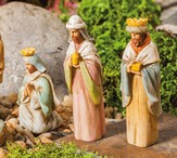 Mini Garden Manger Scene, Three Wisemen, Set of 3