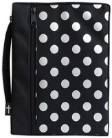 Canvas Bible Cover, Black with Silver Dot, X-Large