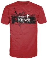 Working On Forever Shirt, Red, Medium