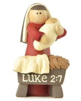 Mary and Jesus, Luke 2:7 Figurine