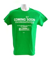 Coming Soon Shirt, Green, Large