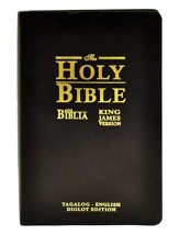 Ang Biblia (Tagalog)-King James Version (English) Bilingual Bible: Black Bonded Leather, Indexed