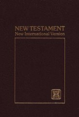 NIV Pocket-Thin New Testament, burgundy softcover 1984