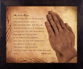 Lord's Prayer, Matthew 6, Framed Print