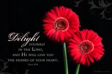 Delight Yourself in the Lord Mounted Print