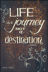 Life is a Journey not a Destination Mounted Print
