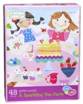 A Sparkling Tea Party 48 Piece Glitter Puzzle