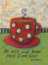 Be Still and Know God, Mugs Canvas Plaque