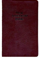 NABRE Deluxe Gift Bible Bonded Leather Burgundy Indexed