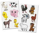 Farm Animals Labels Pack (20 6 x 4 Sheets; 120  Labels)