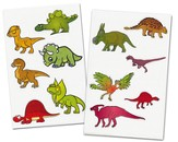 Dinosaurs Labels Pack (20 6 x 4 Sheets; 120 Labels)