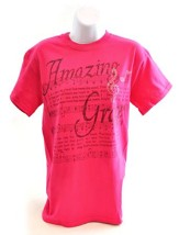 Amazing Grace with Rhinestones Shirt, Pink, Large