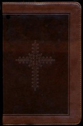 KJV Personal Size Giant Print End of Verse Reference Bible, Imitation leather, chocolate