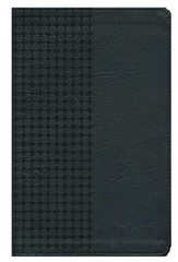 NKJV Personal Size Giant Print End of Verse Reference Bible, Imitation leather, black--indexed