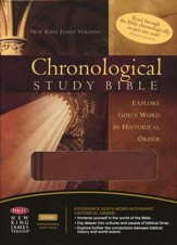 NKJV Chronological Study Bible, Imitation leather, auburn