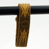 Canvas Bracelet, Tribal Cross