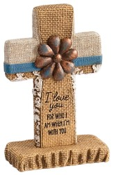 I Love You Pedestal Cross