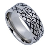 I Know Diamond Back Men's Ring Silver, Size 12 (Jeremiah 29:11)