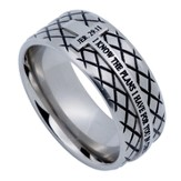 I Know Diamond Back Men's Ring Silver, Size 14 (Jeremiah 29:11)