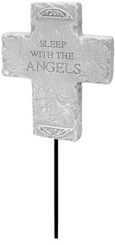 Sleep With the Angels Cross Garden Plaque