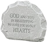 God Has You In His Keeping Garden Stone