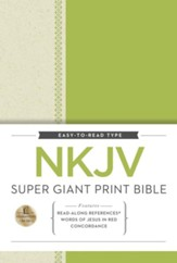 NKJV Super Giant Print Reference Bible, hardcover