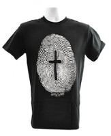 Fingerprint, Cross Shirt, Black, Large