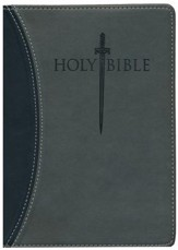 KJVer (Easy Reader) Large Print Sword Study Bible, Personal Size, Ultrasoft Black/Grey, Thumb Indexed