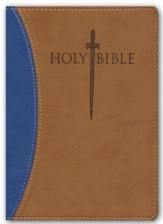 KJVer (Easy Reader) Large Print Sword Study Bible, Personal Size, Ultrasoft Blue/Tan