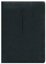 KJV Large Print Sword Study Bible, Ultrasoft Black, Thumb Indexed