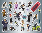 Spy on the Street Sticker Sets, pack of 10  - Slightly Imperfect