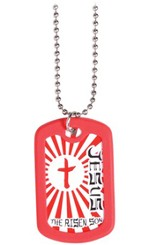 Dog Tag Necklace, Risen Son