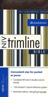 NIV Trimline Bible, Bonded leather, Burgundy  1984