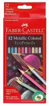 Metallic Colored EcoPencils, Pack of 12