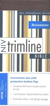 NIV Trimline Bible, Bonded leather, Burgundy w/snap flap  1984