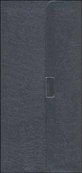 NIV Trimline Bible, Bonded leather, Navy blue w/snap flap  1984